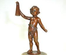 Bronze Figur Franz Iffland Berlin um 1880 Junge mit dem Bierkrug  B-0130