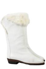 Vintage Stiefel 39 Baldini weiß Fellfutter Pelz Italy Designer Boots 80s Boho