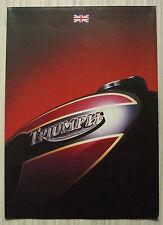 TRIUMPH MOTORCYCLES Sales Brochure/Poster 1983 BONNEVILLE TSS Tiger Trail TSX +