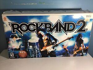 Nintendo Wii Rock Band 2  Bundle Complete Special Edition