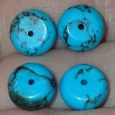 4 Natural Indo - Tibetan, Tibet Turquoise beads, 10mm, #S2609