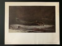 """Vintage """"Hound and Hunter"""" Print by Winslow Homer - National Gallery of Art"""