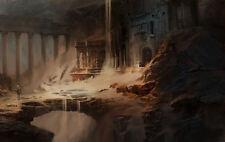 Enmarcado impresión antiguas civilizaciones perdidas (Fantasía mítica ciudad perdida Foto)
