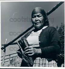 1963 Wife of Native American Chief August Matisse Tachie Village Press Photo