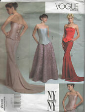 Vogue 2810  NYNY Collection Designer Corset and 4 Skirt Styles  Size 18 - 22