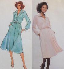 "36"" UC Vtg Vogue 1829 American Designer Shirtdress Pockets Silverman Shirtwaist"