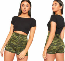 Damen-Shorts & -Bermudas im Hotpants-Stil mit Camouflage Normalgröße