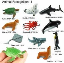 UK Plastic Figure 24PCS Ocean Sea Creatures Animals Dolphin Turtle Whale Toys