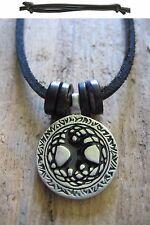 árbol de la vida Amuleto madera collar Surfista Piel Hombres Negro tree of life