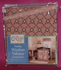 COCALO EMILIA WINDOW VALANCE PINK MAUVE PLUM IVORY FLOWERS PATTERNS NIP!