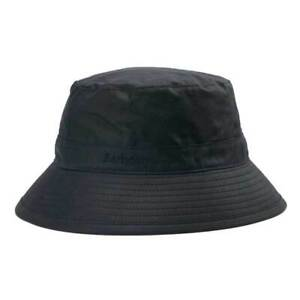 Barbour Mens Wax Sports Bucket Hat Navy Blue Waterproof Size S,M, L, XL, XXL