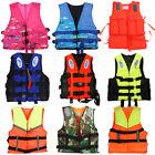 Polyester Adult Kid Life Jacket Universal Swimming Boating Ski Foam Vest+Whistle
