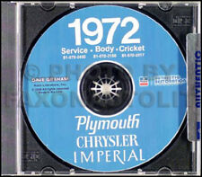 1972 Chrysler Repair Shop Manual CD Imperial New Yorker Newport Town and Country