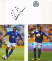 LEICESTER * LIAM MOORE SIGNED 6X4 CRESTED WHITE CARD+2 FREE UNSIGNED PHOTOS+COA