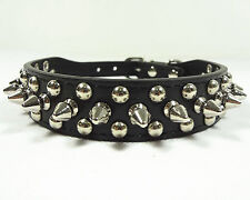 Leather Collar Rivet Spiked Studded Pet Dog Collar XS S M L for Small Medium Dog