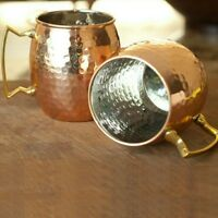 2Pcs Lot Moscow Mule Copper Mugs Cocktail Mugs Quality Stainless Steel