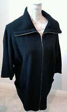 GAP Size XS 100% Wool Black funnel neck zip Collar Cardigan Lovely CONDITION