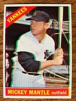1966 TOPPS #50 MICKEY MANTLE - COOL 3D PRINT SHIFT ERROR - NY YANKEES LEGEND
