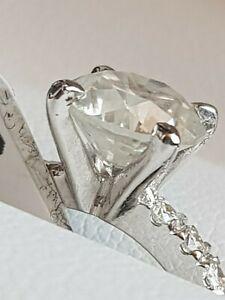1.81 Karat Natürlicher Diamant Ring 14k WG