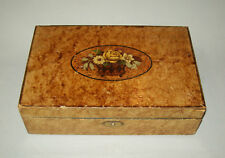 Antique vtg Early 19th C Folk Art School Girl Box Academy Paint Decorated Beauty