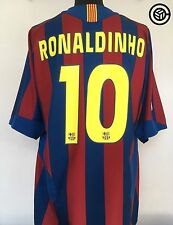 RONALDINHO #10 Barcelona Nike Home Football Shirt Jersey 2005/06 (XL)