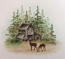 BARN  RETIRED (U get photo #2 only) L@@k@ examples ART IMPRESSIONS RUBBER STAMPS