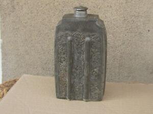 RARE ANTIQUE OTTOMAN EMPIRE Balkan Region TIN Flask Canteen 1897 year