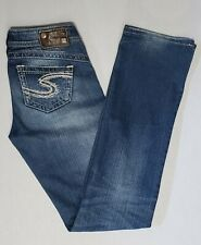 Silver jeans Sz 25 Women Tuesday Stretch Blue Denim Bootcut Thick stitch Casual