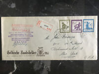 1950 Netherlands Holland Airmail Cover to USA # B223