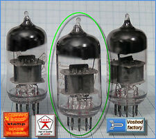 USSR double triode 6N23P eq.of 6DJ8, ECC88, CV5358, M3624 Rocket logo 1pc.+