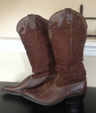 Soda Womens Tall Western Cowgirl Cowboy Boots Brown~Size 7-7 1/2