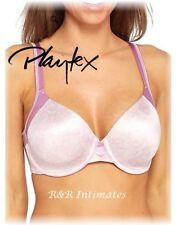 Playtex Love My Curves Smooth Concealing Petals T-Shirt Bra, Pink, 4848, 40C
