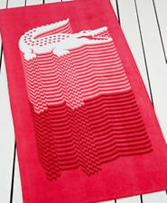 NWT Lacoste Crocojump Rose Pink Beach Towel Crocodile XL 34X70