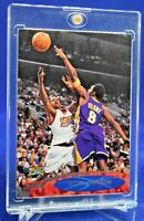 ALLEN IVERSON BEING BLOCKED BY KOBE BRYANT STADIUM CLUB AWESOME SP RARE LEGENDS