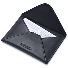 HISCOW Envelope Business Card Case with Magnet Closure Italian Genuine Leather