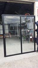 2100h x 1810w NEW Sliding Door Black SF or FS Single Glazed in STOCK