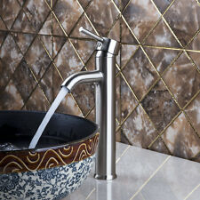 Bathroom Nickel Brushed Lavatory Sink Mixer Faucet Counter top Brass Basin Tap