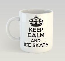 Keep Calm And Ice Skate Mug Funny Birthday Novelty Gift Skating Skater