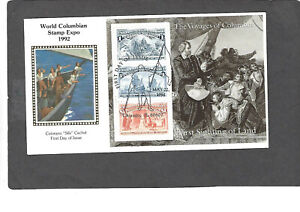 1992 VOYAGES OF COLUMBUS SET OF 6 FDCS=COLORANO SILK CACHETS