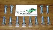 Intake Manifold Bolts Set 12pc M-head SB 64-72 Chevelle Camaro Nova Impala bolt