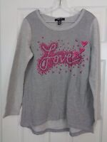 Women's Style & Co Gray Embellished Knit Top Size Medium New w/ Tags