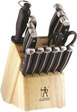NEW J.A. HENCKELS 13550-005 15 PIECE  KITCHEN CUTLERY KNIFE SET & BLOCK 0513895