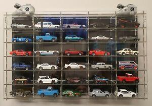 30 Model 1:64 Matchbox Corgi Toy Hot Wheels Car Vehicle Display Frame Cabinet