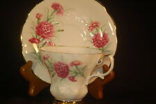 Royal Albert Friendship Carnations  Cup and Saucer