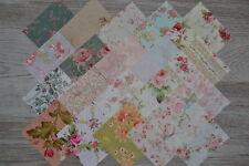 Lot de 20 coupons de tissu patchwork shabby fleuris