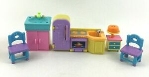 Dora The Explorer Talking Dollhouse Replacement 5pc Lot Chairs Sink Kitchen Oven
