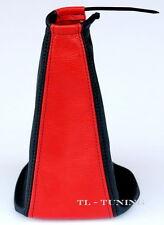 Schaltsack Schaltmanschette SEAT ALHAMBRA Bj. 96-00 Echt Leder Rot - Schwarz
