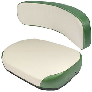 One New 2-Pc Green & White Cushion Set Fits Various Oliver Models