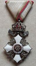BULGARIAN CROSS ROYAL ORDER FOR CIVIL MERIT 5 CLASS with CROWN 1933 KING BORIS