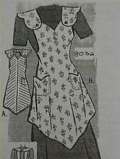Vintage Bib Apron Full Size Pattern Mail Order Fancy Strap Sewing Fabric Project